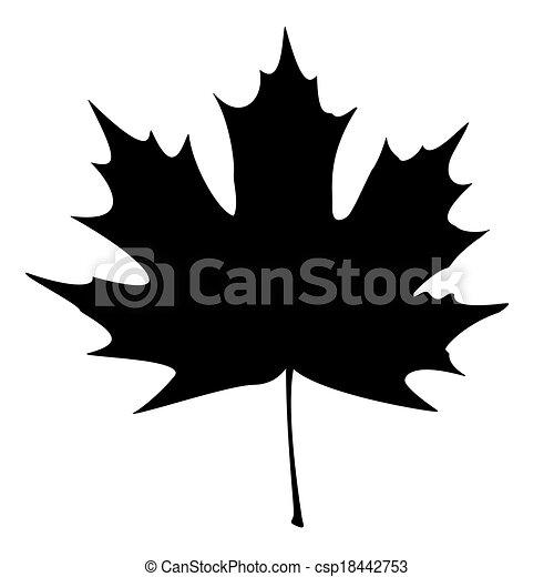 Maple Leaf Silhouette - csp18442753