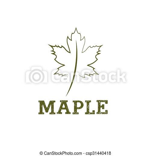 maple leaf vector design template - csp31440418