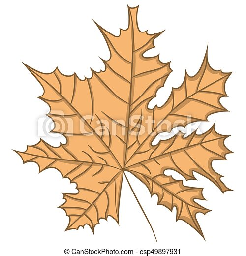 Maple Leaf. vector illustration. Drawing by hand. - csp49897931