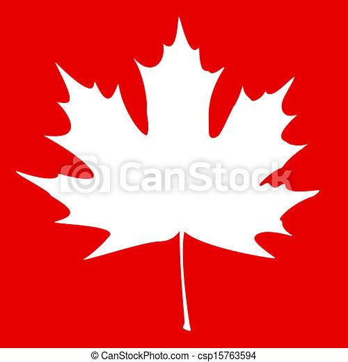 Maple Leaf White - csp15763594