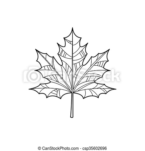 maple leaf coloring page.html