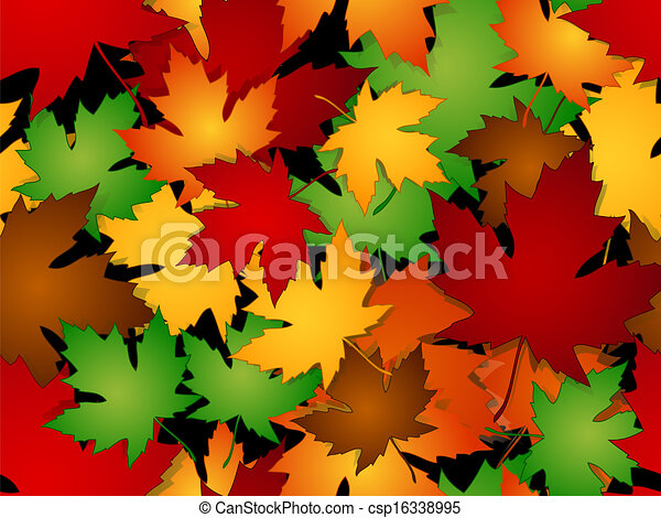 Maple leaves fall seamless pattern - csp16338995