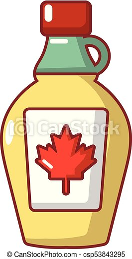 maple syrup icon cartoon style maple syrup icon cartoon eps rh canstockphoto com Syrup Bottle in Color Clip Art Ice Cream Syrup Bottle Clip Art