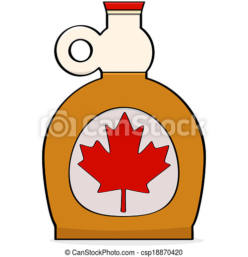 maple syrup cartoon illustration showing a bottle of canadian maple rh canstockphoto com maple syrup tree clip art maple syrup bottle clip art