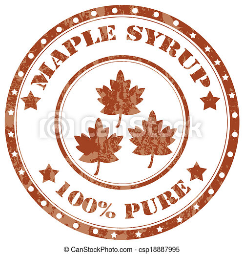 Maple Syrup Stamp Grunge Rubber Stamp With Text Maple Eps Vectors