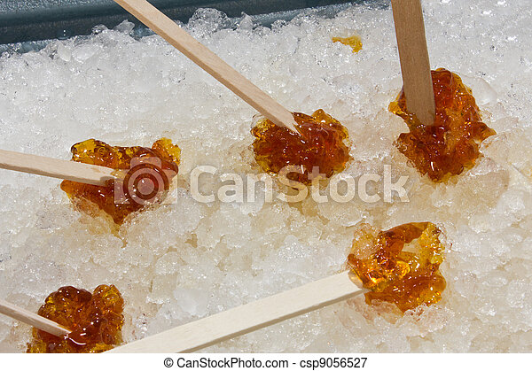 recipe: maple taffy without snow [17]