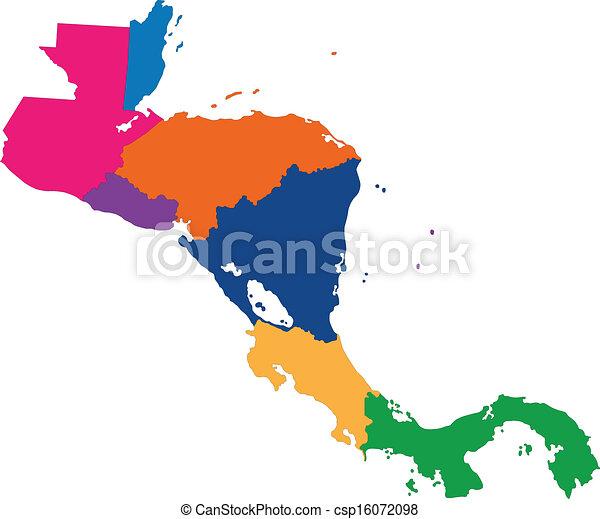 mappa, america, centrale - csp16072098