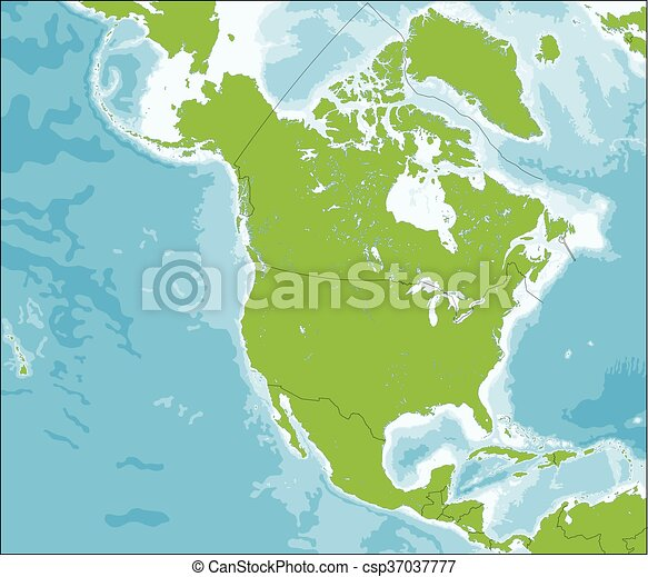 mappa, america, nord - csp37037777