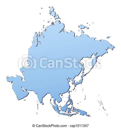 mappa, asia - csp1011347