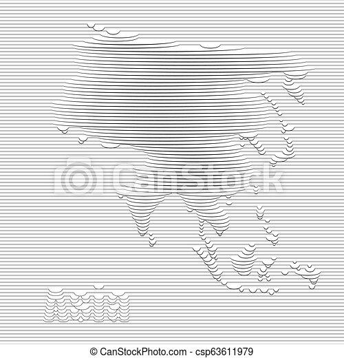 mappa, asia - csp63611979