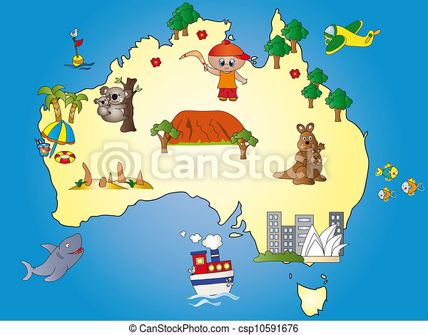 mappa, australia - csp10591676