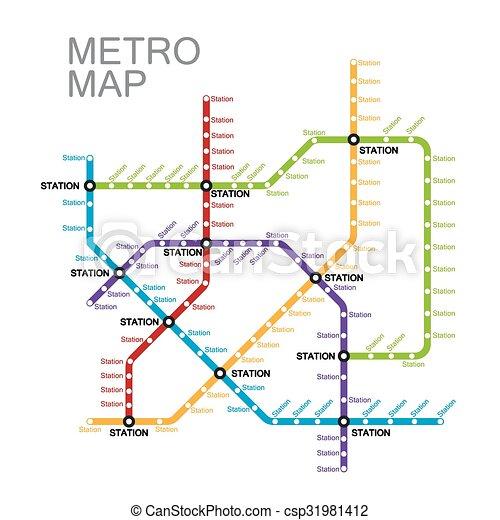 mappa, disegno, o, metro, sottopassaggio - csp31981412