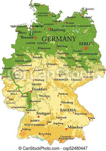 Dortmund Germania Cartina.Mappa Fisico Germania Fisico Cities Dettagliato Altamente Forme Germania Vettore Regioni Sollievo Grande Mappa Canstock