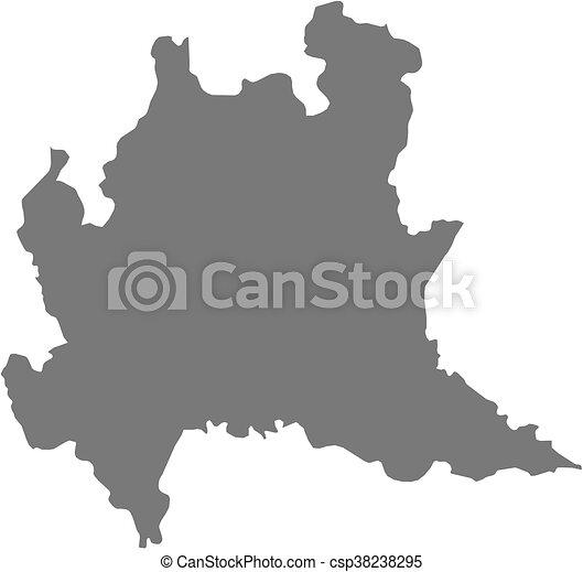 Cartina Lombardia Da Colorare.Mappa Italy Lombardia Provincia Mappa Italy Lombardia Canstock