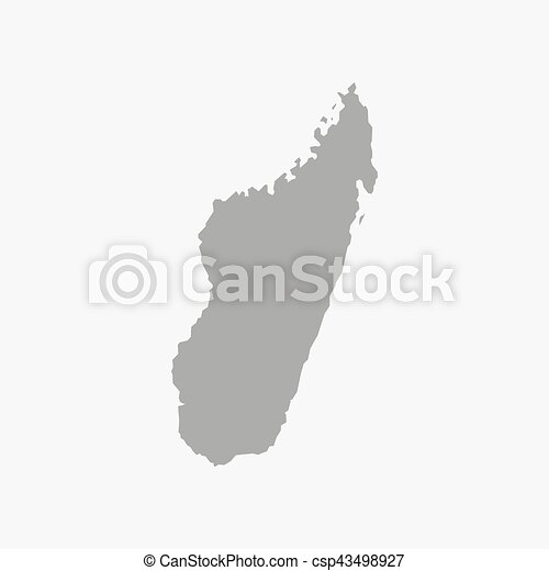 Mappa Madagascar Sfondo Bianco Grigio