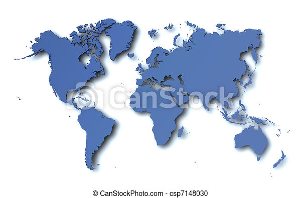 mappa mondo - csp7148030