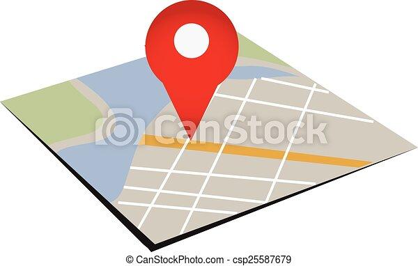 mappa, navigazione - csp25587679