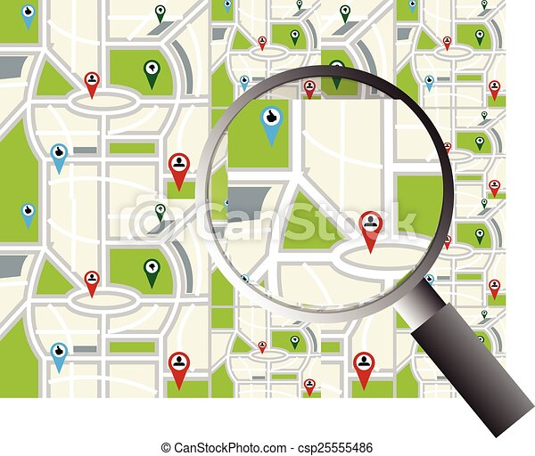 mappa, navigazione - csp25555486
