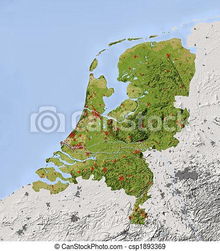 Cartina Olanda Fisica.Mappa Ombreggiato Paesi Bassi Sollievo Fuori Percorso Area Mercator 2 6 7 8 50 5 54 0 Netherlands Map Stato Canstock