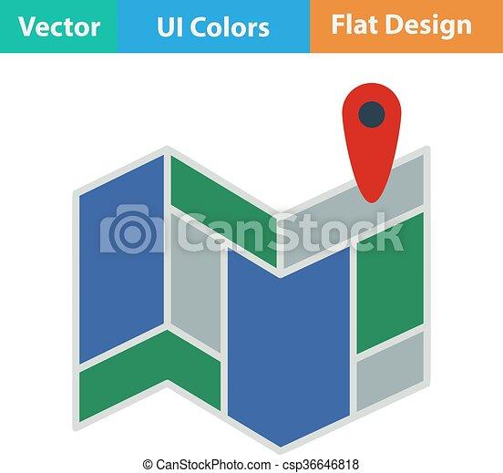 mappa, piano, icona - csp36646818