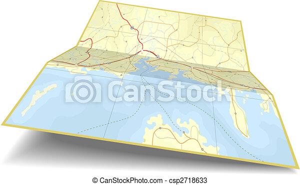 mappa, piegatura - csp2718633
