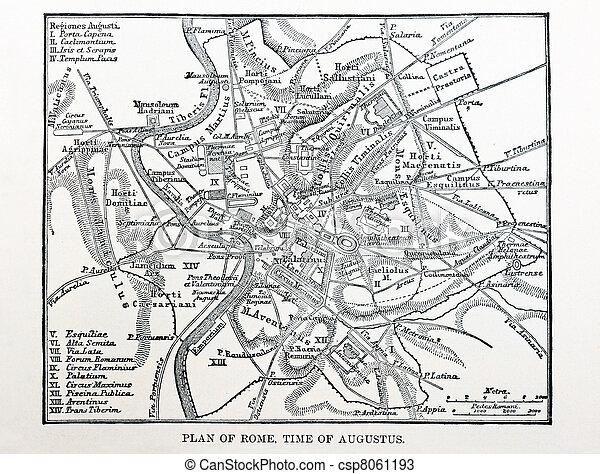 Cartina Antica Roma.Mappa Roma Antica Mappa Antico Augustus Roma Tempo 1896 Libro Canstock