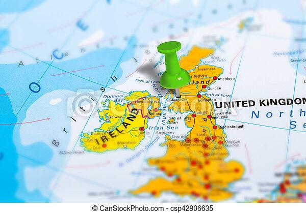Cartina Scozia Politica.Mappa Scozia Glasgow Mappa Scuola Europe Colorito Effect Politico Scozia Appuntato Inclinazione Geopolitico Canstock