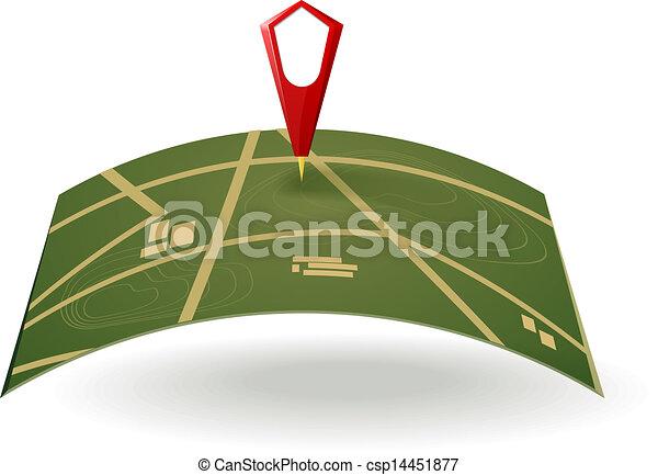 mappa, strada - csp14451877