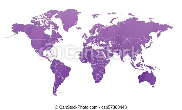 mappa, terra, silhouette - csp57360440