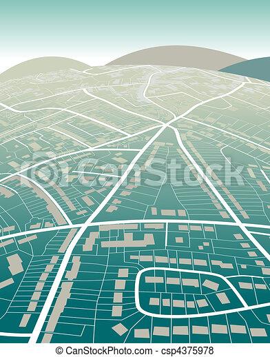 mappa, terra - csp4375978