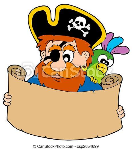 mappa, tesoro, lettura, pirata - csp2854699