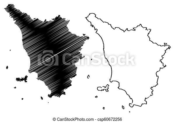 Www Cartina Toscana.Mappa Toscana Mappa Schizzo Autonomous Toscana Illustrazione Regione Italy Toscana Vettore Scarabocchio Canstock