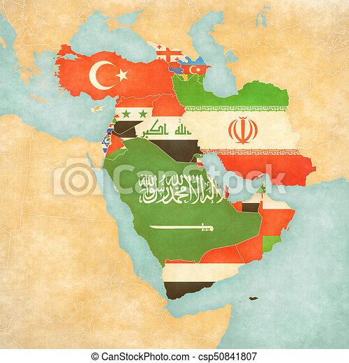 Cartina Asia Occidentale.Mappa Tutto Paesi Asia Bandiere Occidentale Mappa Tutto Grunge Come Paesi Vendemmia Asia Acquarello Carta Canstock