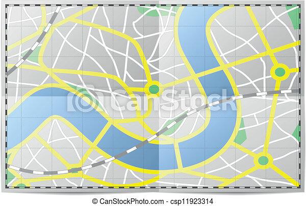 mappa urbana - csp11923314