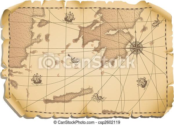 mappa, vecchio - csp2602119