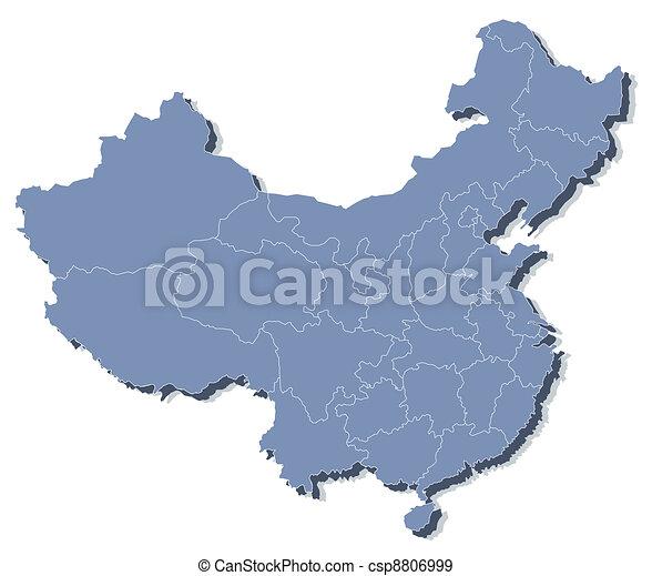 mappa, vettore, repubblica, persone, porcellana, (prc) - csp8806999
