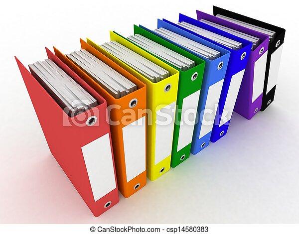 mappar, framförande, 3, papper - csp14580383