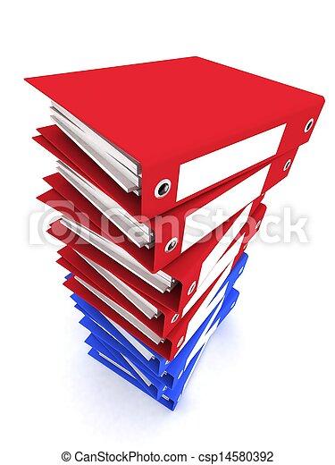 mappar, framförande, 3, papper - csp14580392