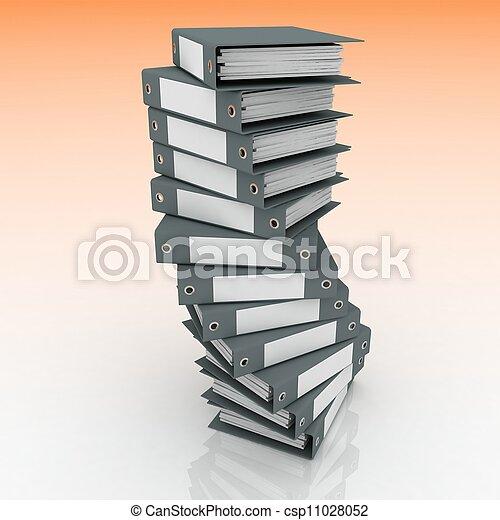mappar, framförande, papers., 3 - csp11028052