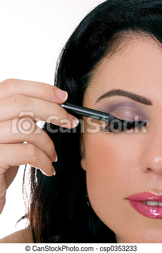 maquillage, closeup - csp0353233