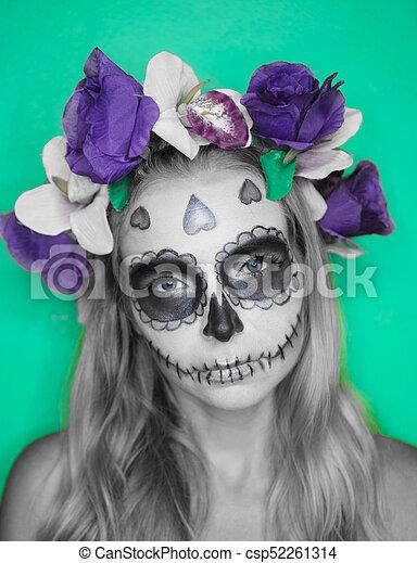 maquillage mexicain best on vient tracer des formes ou des fleurs dans les espaces vides du. Black Bedroom Furniture Sets. Home Design Ideas