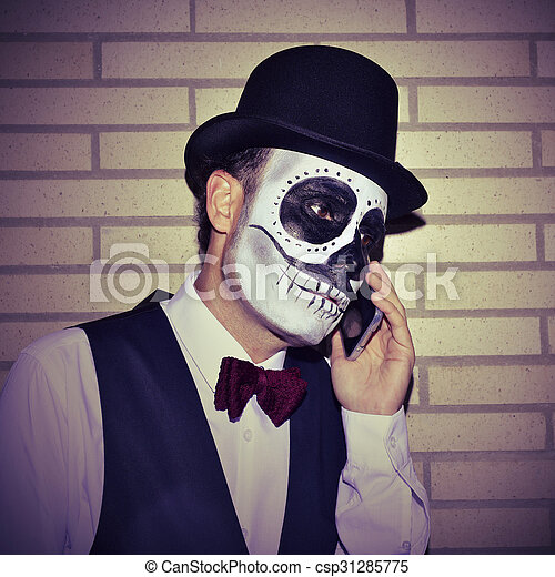 maquillage homme mexicain calaveras t l phone porter mexicain sommet maquillage arc. Black Bedroom Furniture Sets. Home Design Ideas