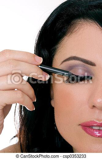 maquillaje, primer plano - csp0353233