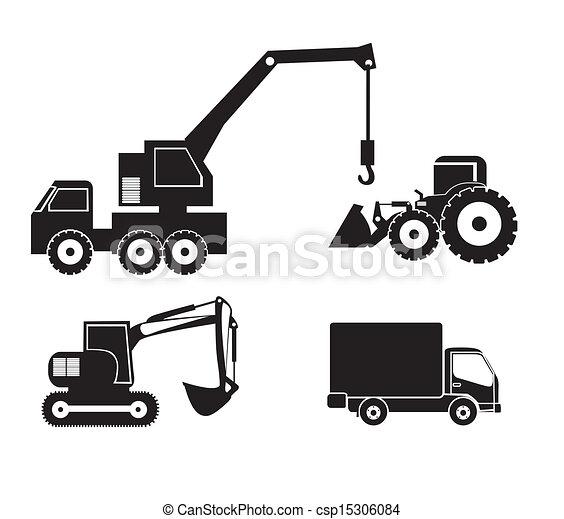 maquinaria, ícones - csp15306084