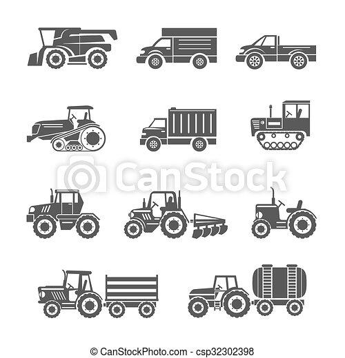 Icos de maquinaria agrícola - csp32302398