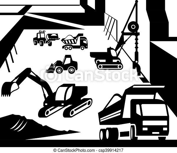 maquinaria construção - csp39914217