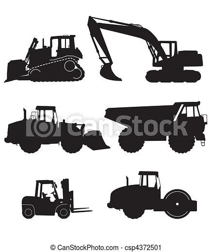 maquinaria construção - csp4372501
