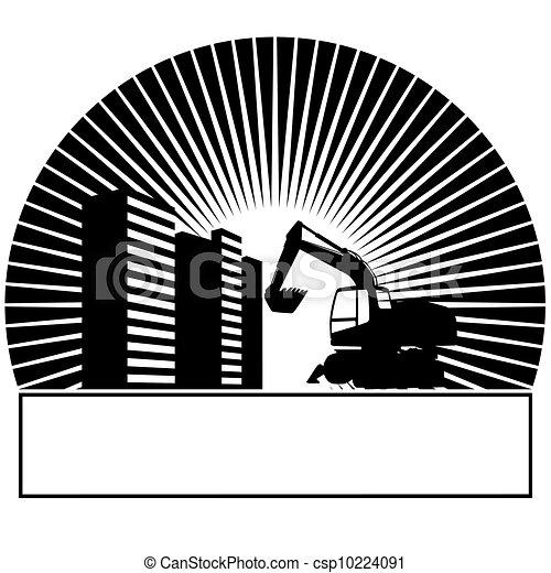 maquinaria construção - csp10224091