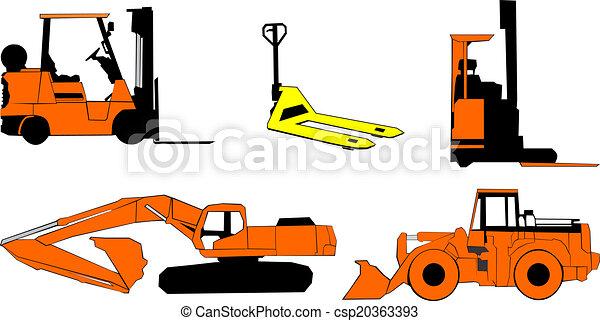 maquinaria construção - csp20363393