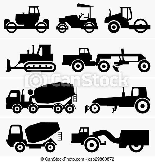 maquinaria construção, estrada - csp29860872